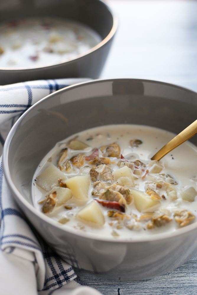 New England Clam Chowder - 3 Scoops of